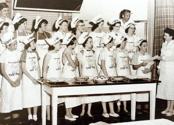 This group of youngsters received diplomas after completing the Junior Cooking Class in 1948.