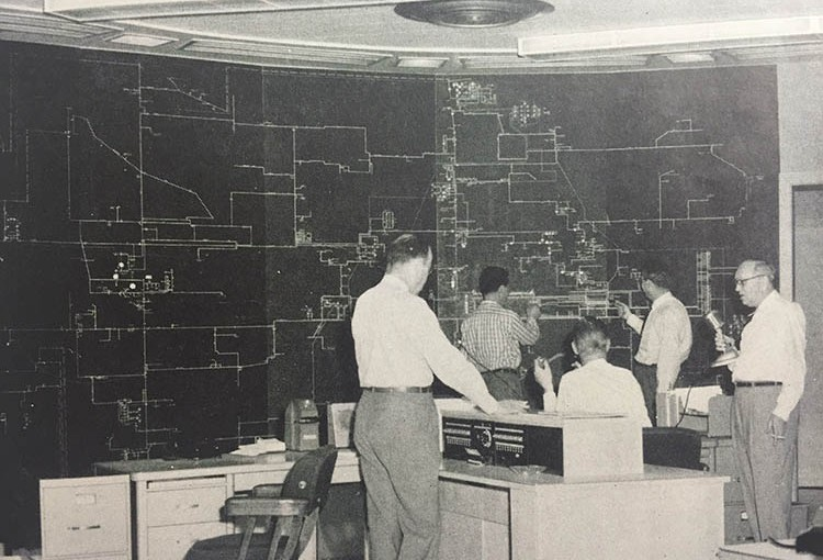 Line dispatchers of 1956
