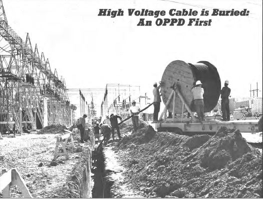 First underground high-voltage cable