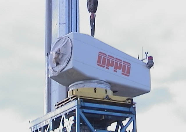 First OPPD wind turbine