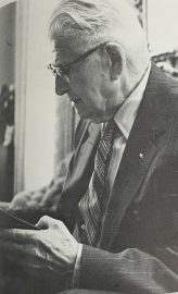 Seymour Smith, then-retired Omaha lawyer and former city attorney, served as a primary source for the original 1973 article. Smith grew up on a farm in the Desoto area, and was knowledgeable on the history of Washington County. His grandfather, Charles Seltz, was one of the first storekeepers in DeSoto.