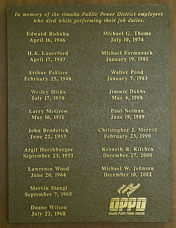 0516 Day of Remembrance Plaque inside