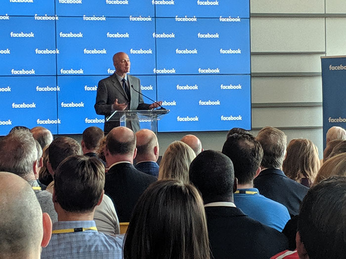 Nebraska Gov. Pete Ricketts speaks at the grand opening event.