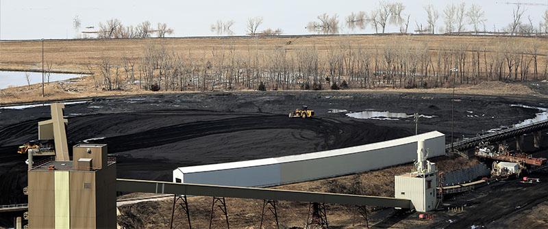coal yard at OPPD's Nebraska City power plant
