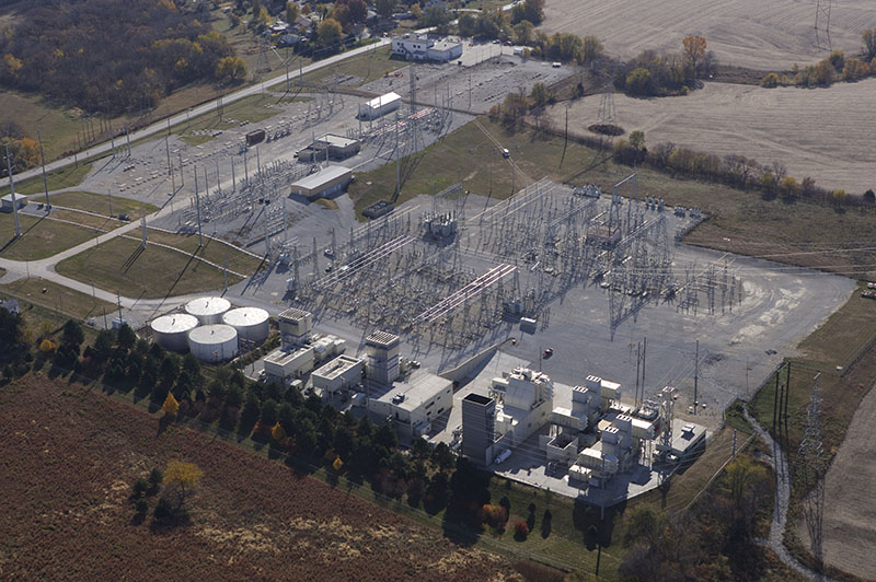 role of natural gas, aerial view of OPPD's Sarpy County Station