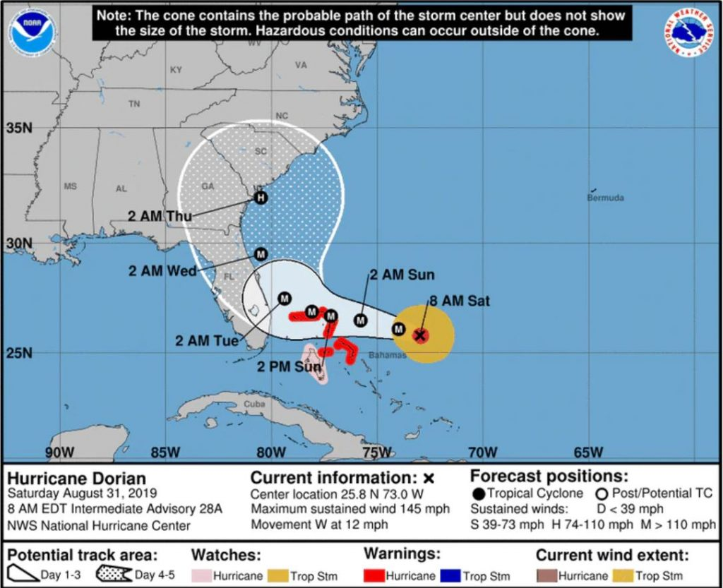 OUT_Mutual Aid Dorian 2019_hurricane map Saturday