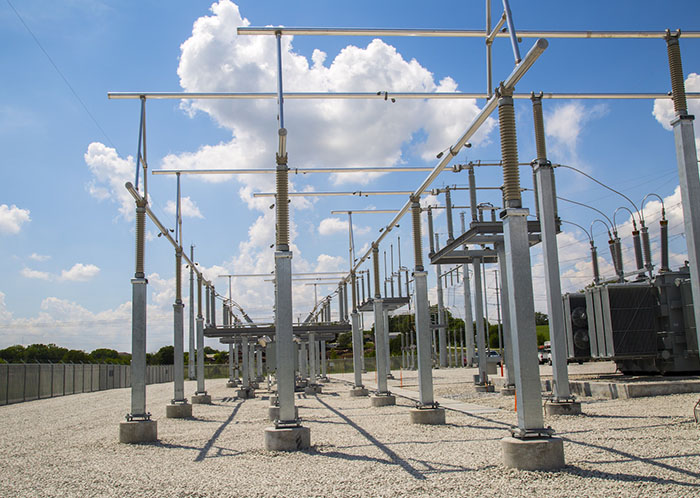 energy management system, exterior shot of a substation