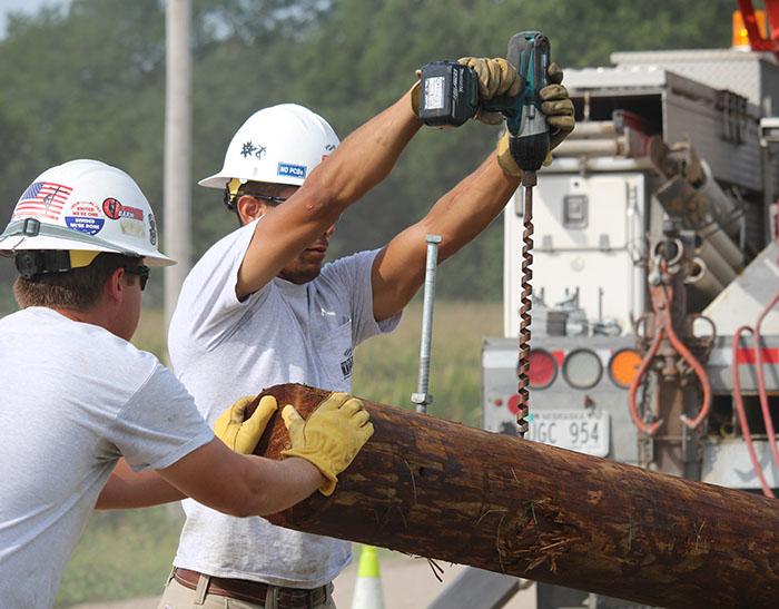 T&D_Apprentice Wrap Job_drill hole
