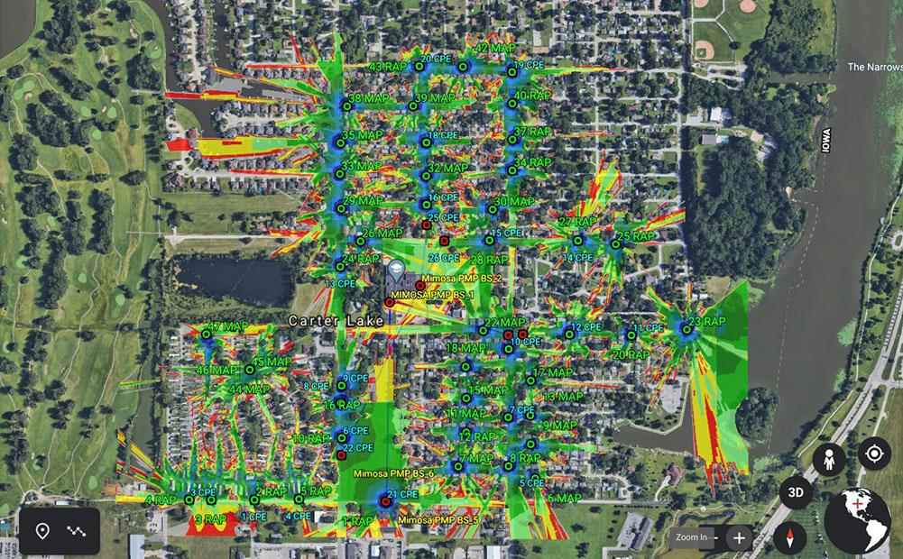 Carter Lake wifi map