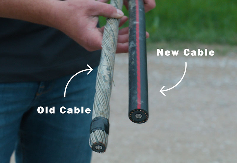 underground cable replacement