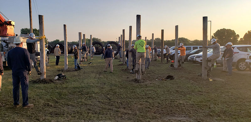 """Line technicians participate in an apprentice """"boot camp"""" at OPPD."""