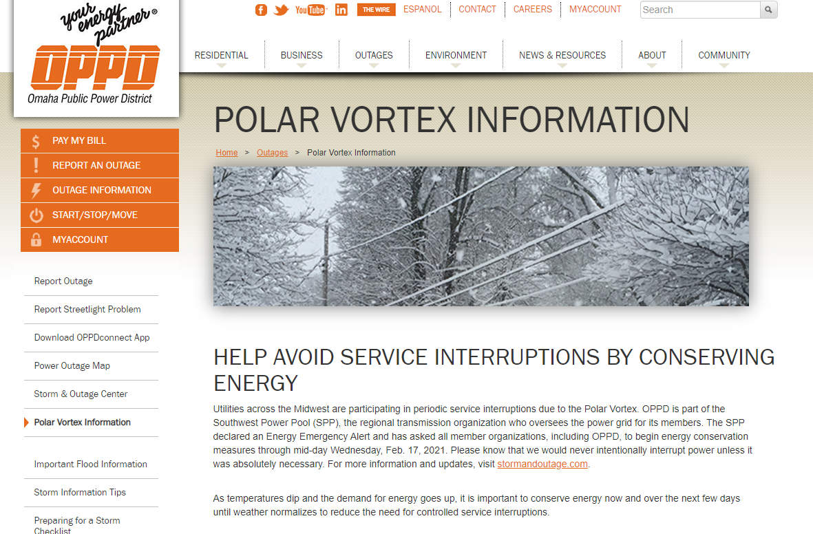 Polar Vortex page