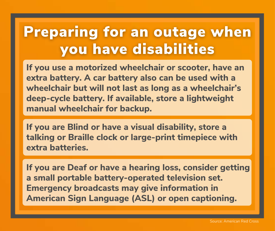 Preparing for an outage when you have disabilities_940x788